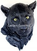 picture of BLACK PANTHER HEAD WALL MOUNT STATUE