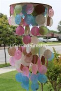 picture of MIXED COLOR CAPIZ WIND CHIMES