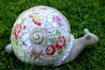 picture of LARGE MOSAIC SNAIL MOSAIC STATUE SNAIL MOSAIC-br