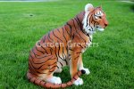 picture of ORANGE TIGER STATUE ORANGE TIGER FIGURINE