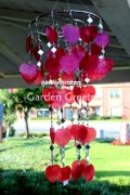 picture of RED HEART CAPIZ SHELL WINDCHIMES CAPIZ CHIMES RED HEART