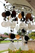 picture of WHITE/GOLD/BLACK CAPIZ WIND CHIMES