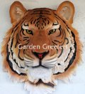 picture of ORANGE TIGER HEAD WALL MOUNT STATUE