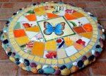 picture of MOSAIC BUTTERFLY STEPPING STONE MOSAIC WALL DECOR-bo