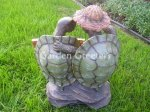 picture of TURTLE COUPLE w/SOLAR LIGHT