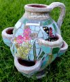 picture of LARGE MOSAIC STRAWBERRY PLANTER MOSAIC TOMATO/HERB/FLOWER PLANTE