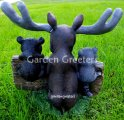 picture of MOOSE BEAR RACCOON STATUE FIGURINE