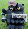 picture of BEAR COUPLE WITH SOLAR LANTERN