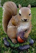 picture of SQUIRREL WITH MIDDLE FINGER STATUE FIGURINE