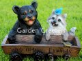picture of BEAR RACOON BIRD FEEDER/BIRDBATH