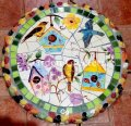 picture of MOSAIC STEPPING STONE MOSAIC WALL ART MOSAIC WALL DECOR-mbh