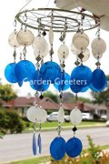 picture of WHITE/BLUE CAPIZ WIND CHIMES