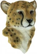 picture of CHEETAH HEAD WALL MOUNT STATUE