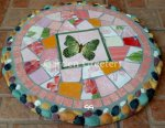 picture of MOSAIC BUTTERFLY STEPPING STONE MOSAIC WALL DECOR-bP