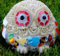 picture of OWL MOSAIC STATUE-bl