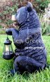 picture of BEAR WITH SOLAR LIGHT STATUE SOLAR BEAR LANTERN FIGURINE