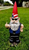 picture of PATRIOTIC GNOME STATUE GNOME FIGURINE