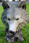 picture of WOLF HEAD STATUE