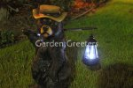 picture of BEAR STATUE WITH SOLAR LIGHT