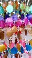 picture of SOLAR CAPIZ SHELL WINDCHIMES/CHANDELIER MIXED COLOR CAPIZ CHIME