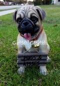 picture of PUG STATUE PUG FIGURINE