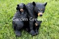picture of BLACK BEAR WITH BABY BEARS STATUE