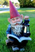 picture of READING GNOME WITH SOLAR LIGHT