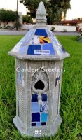 picture of MOSAIC BIRDHOUSE-BL