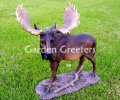 picture of LARGE MOOSE STATUE FIGURINE