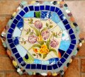 picture of MOSAIC STEPPING STONE MOSAIC WALL DECOR-blu