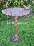 picture of LARGE FLOWER BIRDBATH