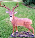 picture of LARGE DEER STATUE 8 POINT BUCK STATUE