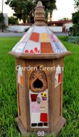 picture of MOSAIC BIRDHOUSE-BR