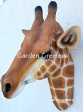 picture of GIRAFFE HEAD WALL MOUNT STATUE
